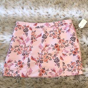 Forever 21 Pink Silk Like Floral Miniskirt 30